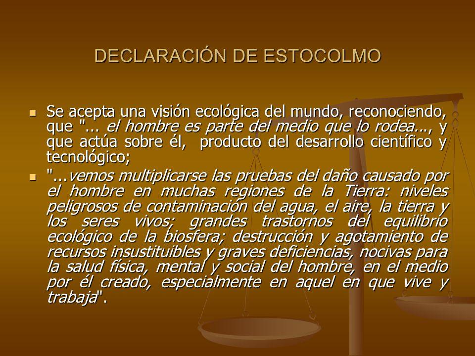 DECLARACIÓN DE ESTOCOLMO