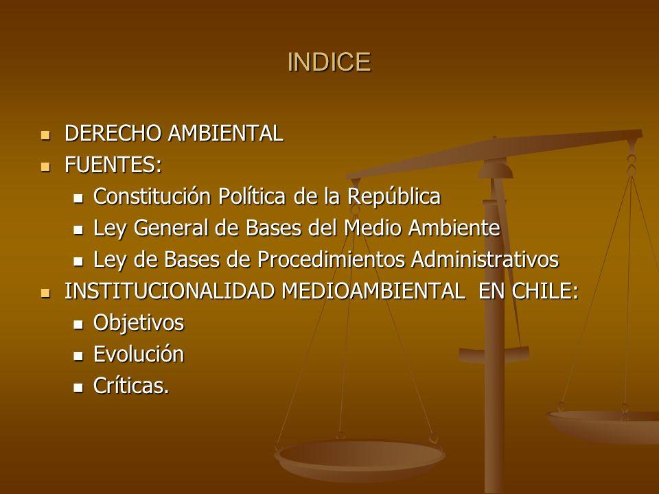 INDICE DERECHO AMBIENTAL FUENTES: