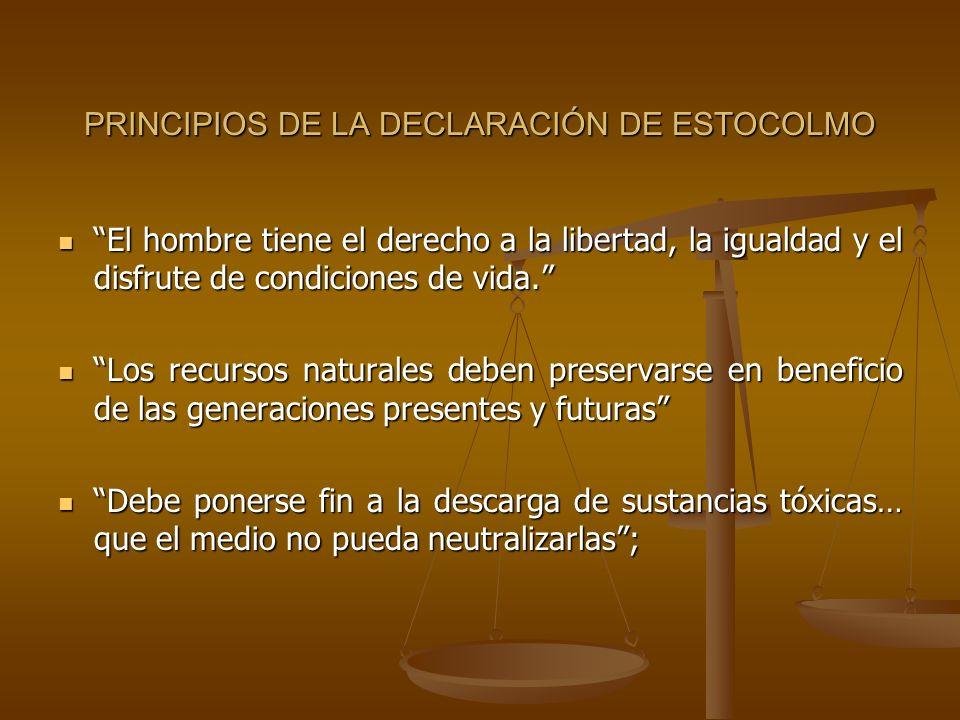 PRINCIPIOS DE LA DECLARACIÓN DE ESTOCOLMO