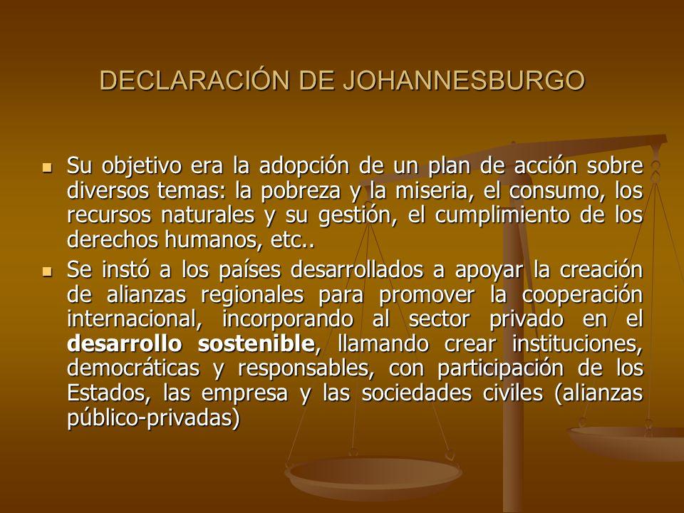 DECLARACIÓN DE JOHANNESBURGO
