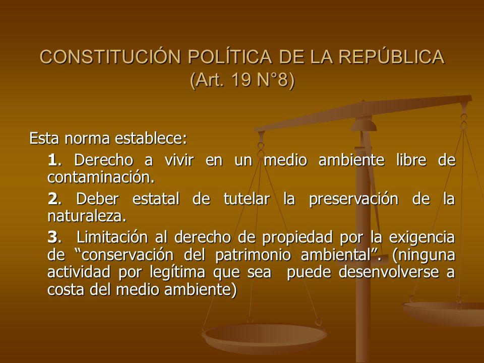 CONSTITUCIÓN POLÍTICA DE LA REPÚBLICA (Art. 19 N°8)