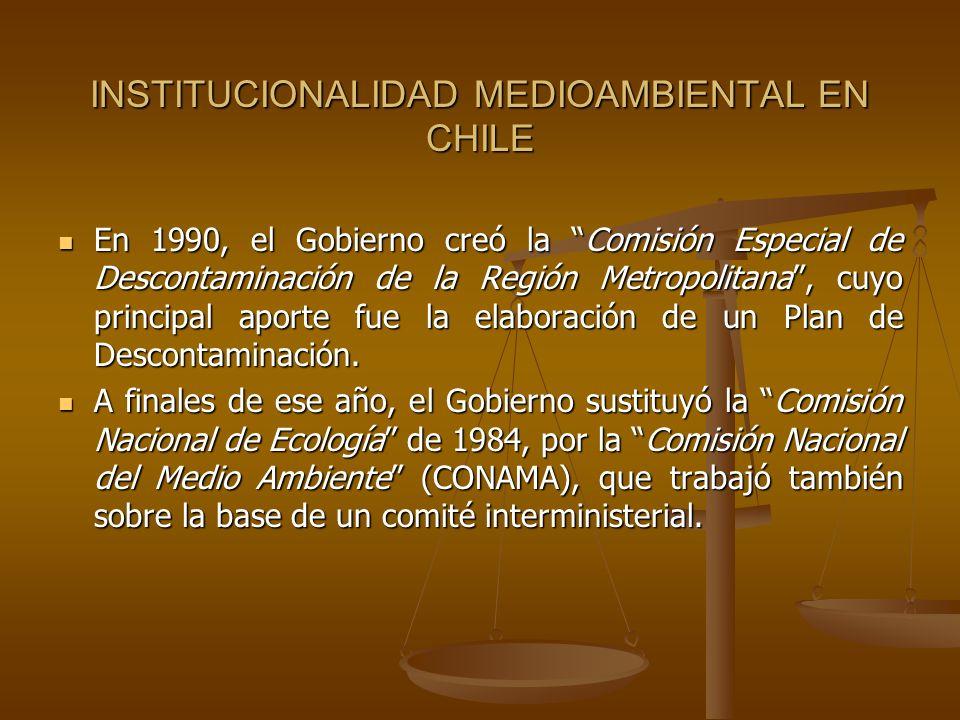 INSTITUCIONALIDAD MEDIOAMBIENTAL EN CHILE