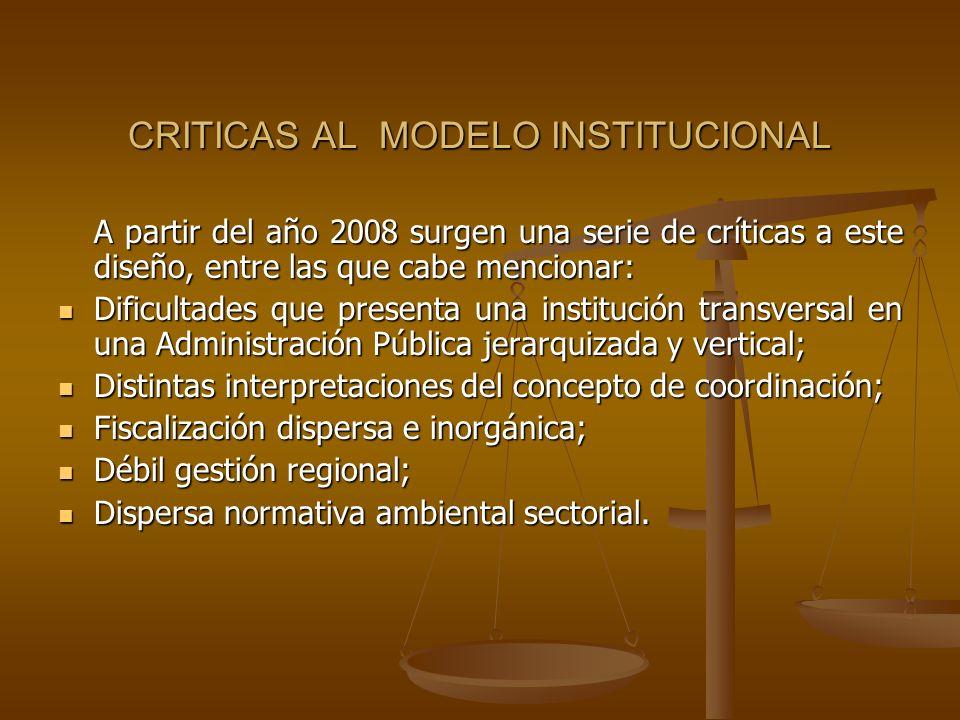 CRITICAS AL MODELO INSTITUCIONAL