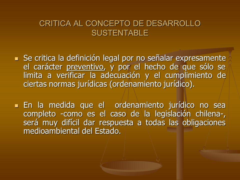 CRITICA AL CONCEPTO DE DESARROLLO SUSTENTABLE