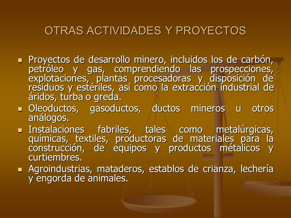 OTRAS ACTIVIDADES Y PROYECTOS