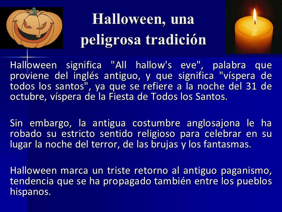 Halloween, una peligrosa tradición - ppt video online descargar