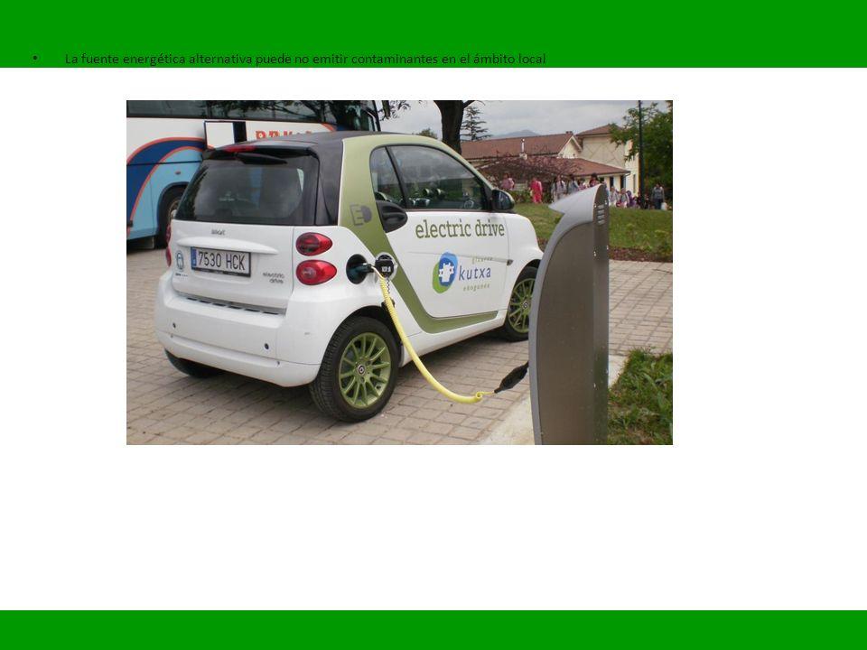 La fuente energética alternativa puede no emitir contaminantes en el ámbito local