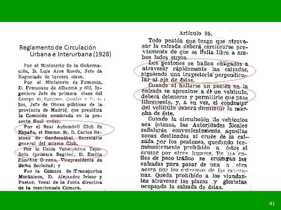 Reglamento de Circulación Urbana e Interurbana (1928)