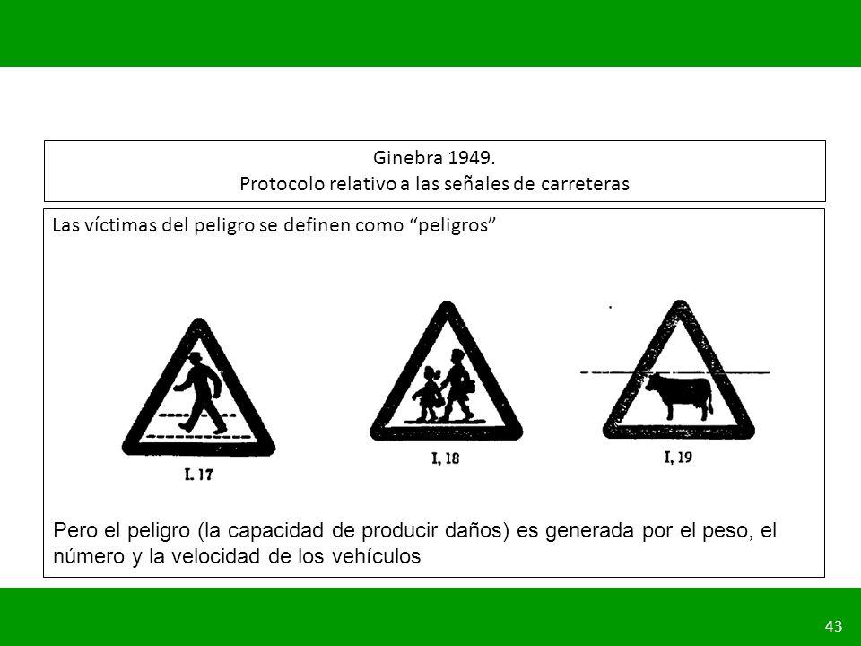 Ginebra 1949. Protocolo relativo a las señales de carreteras