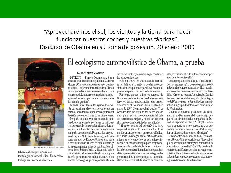 Aprovecharemos el sol, los vientos y la tierra para hacer funcionar nuestros coches y nuestras fábricas .