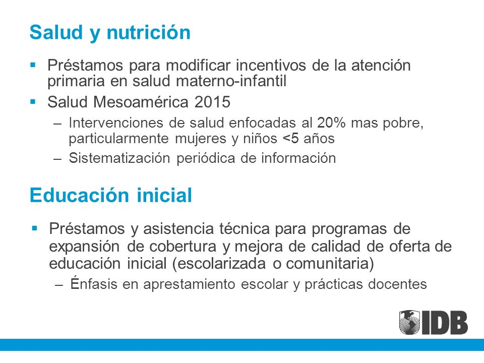 Salud y nutrición Educación inicial