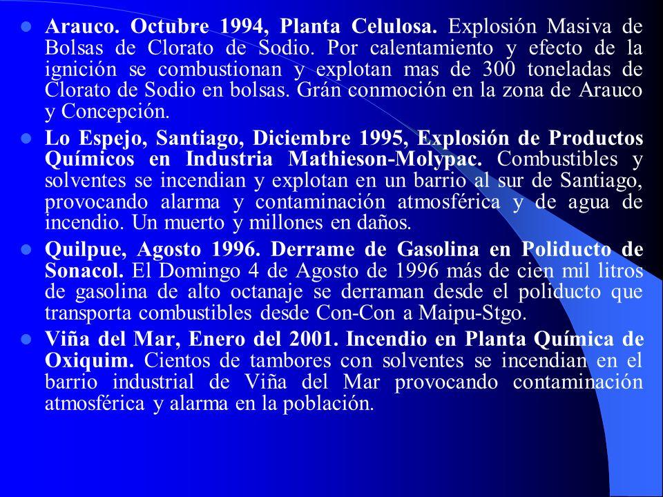 Arauco. Octubre 1994, Planta Celulosa
