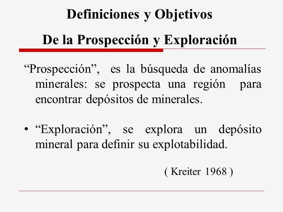 Definiciones y Objetivos De la Prospección y Exploración