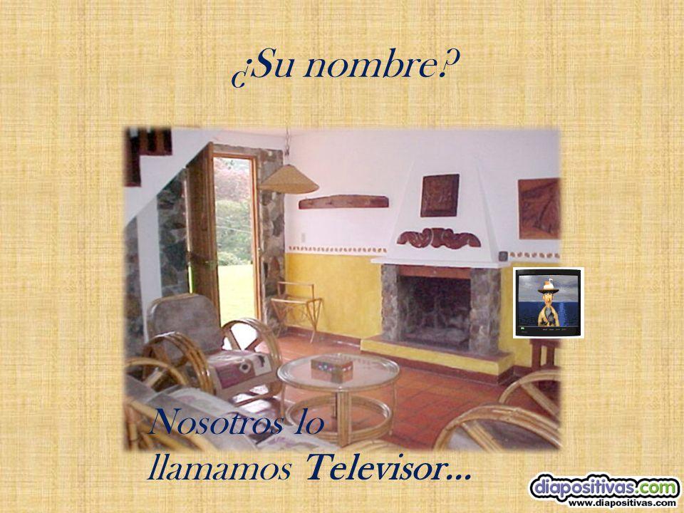 ¿Su nombre Nosotros lo llamamos Televisor...