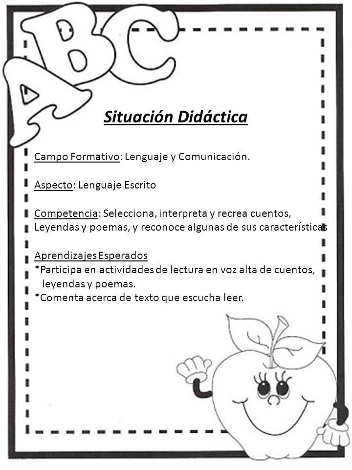 4e2553372d Situación Didáctica Campo Formativo: Lenguaje y Comunicación. - ppt ...