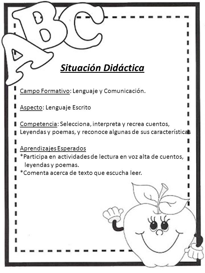 Situación Didáctica Campo Formativo: Lenguaje y Comunicación.