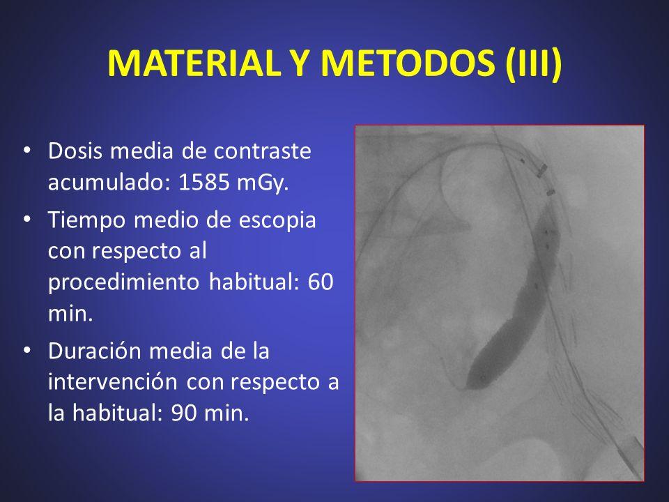 MATERIAL Y METODOS (III)