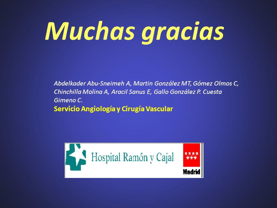 Muchas gracias Servicio Angiología y Cirugía Vascular
