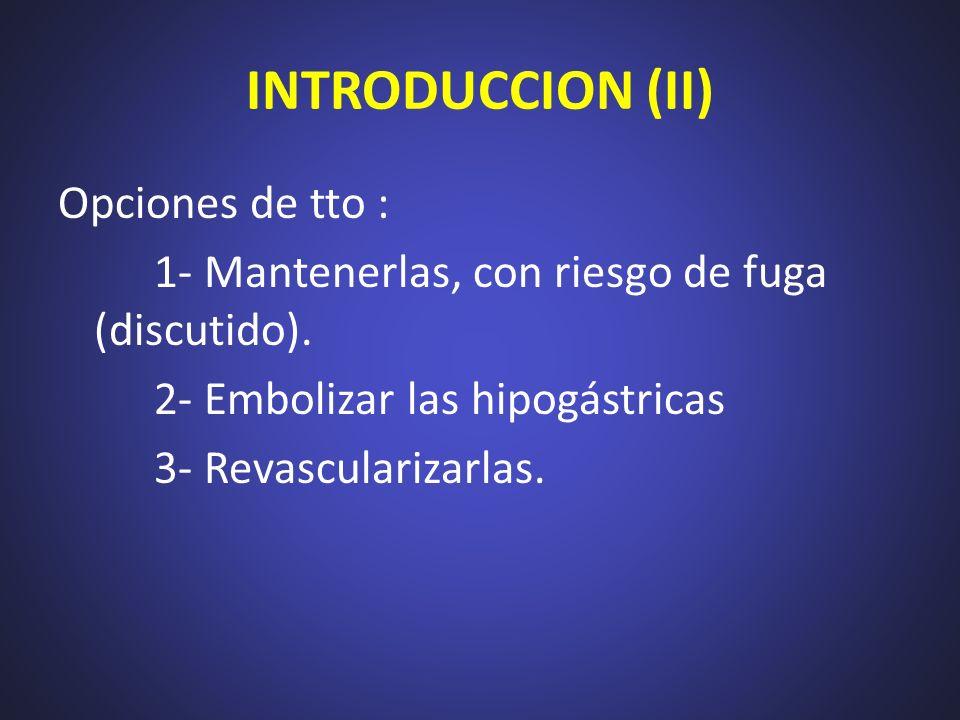 INTRODUCCION (II) Opciones de tto :
