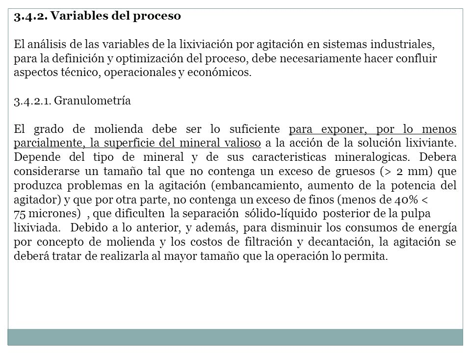 3.4.2. Variables del proceso