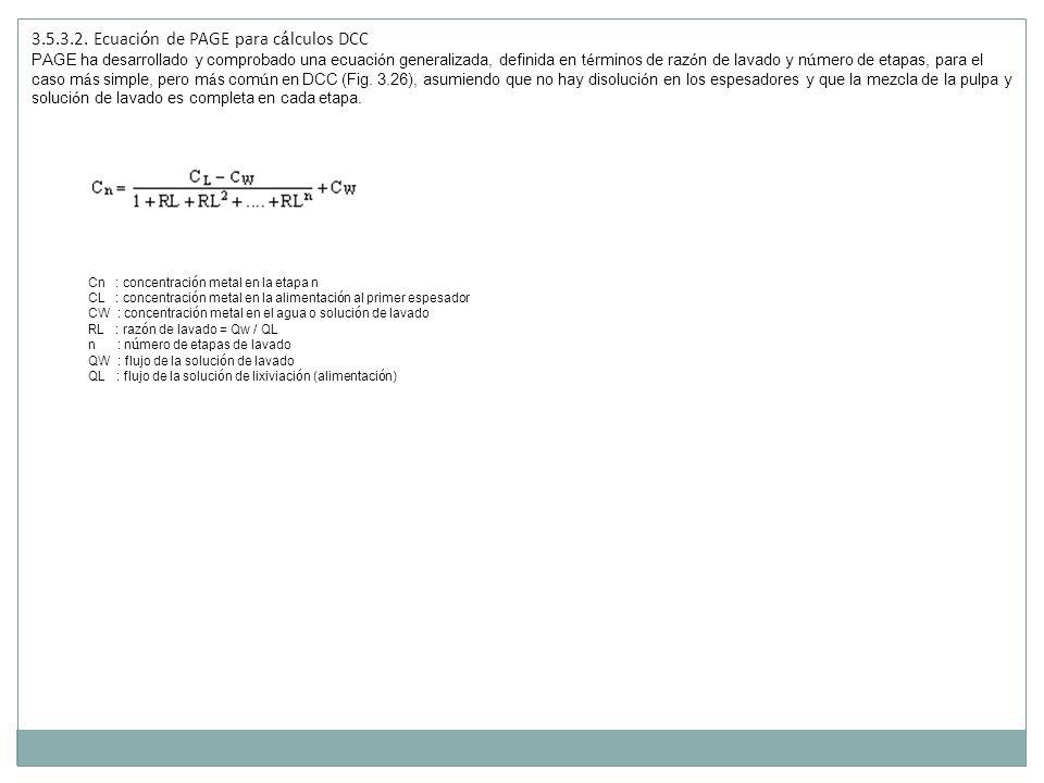 3.5.3.2. Ecuación de PAGE para cálculos DCC