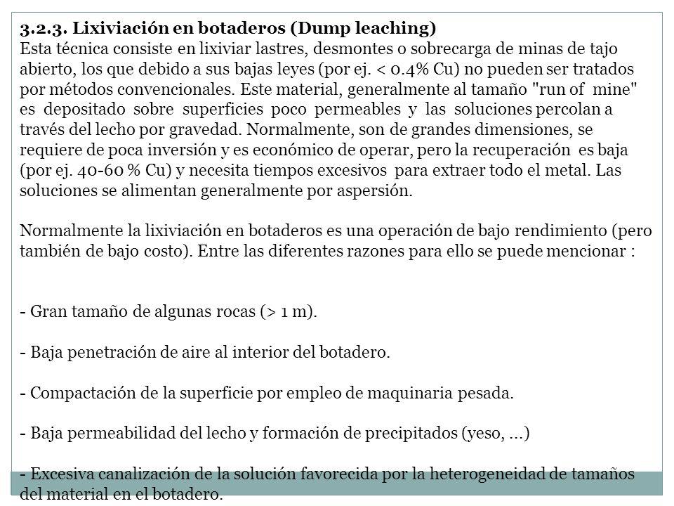 3.2.3. Lixiviación en botaderos (Dump leaching)