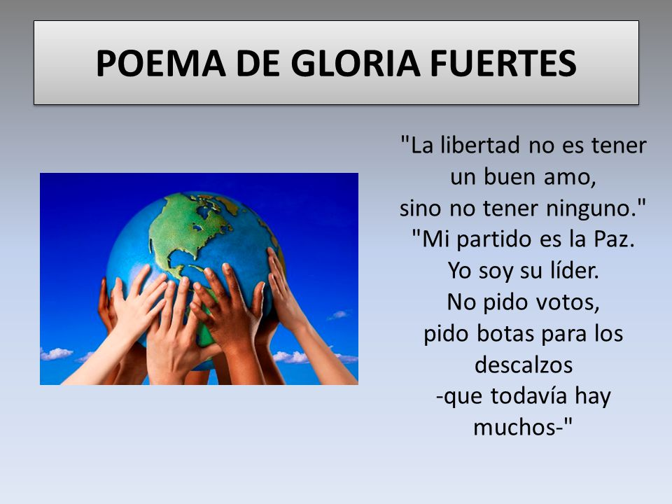 POEMA DE GLORIA FUERTES