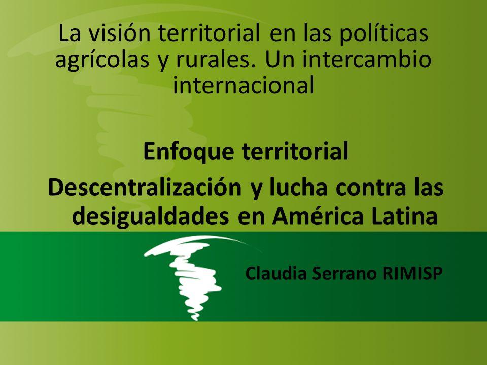 Descentralización y lucha contra las desigualdades en América Latina