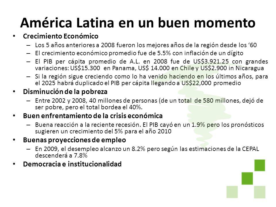 América Latina en un buen momento
