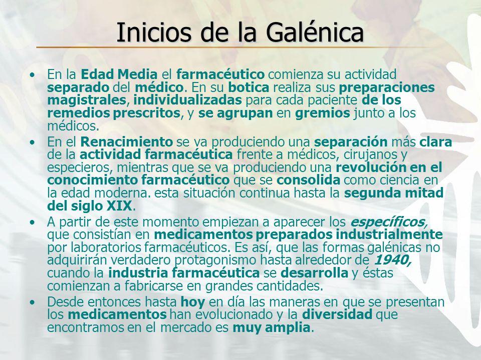 Inicios de la Galénica