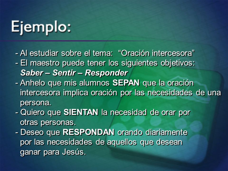 - Al estudiar sobre el tema: Oración intercesora