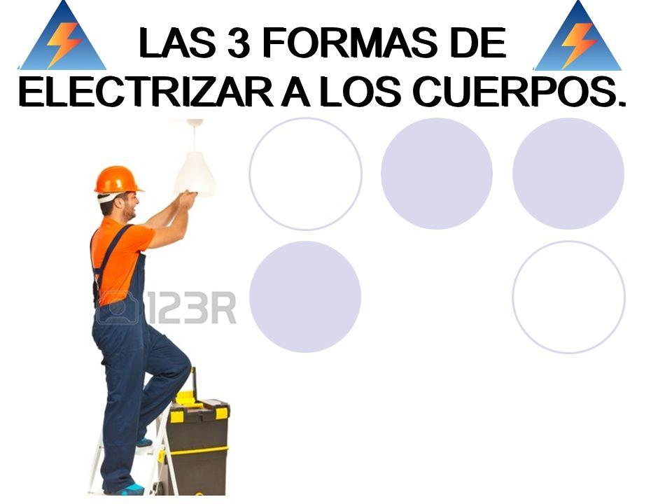 LAS 3 FORMAS DE ELECTRIZAR A LOS CUERPOS.