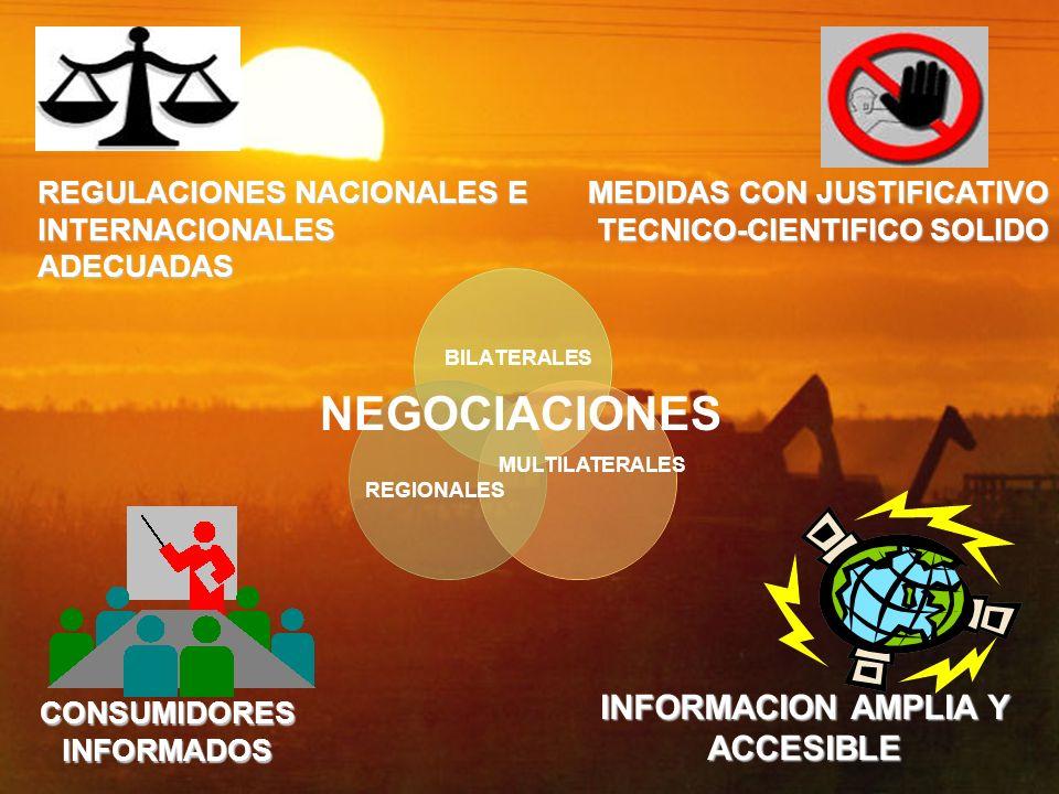 NEGOCIACIONES INFORMACION AMPLIA Y ACCESIBLE REGULACIONES NACIONALES E