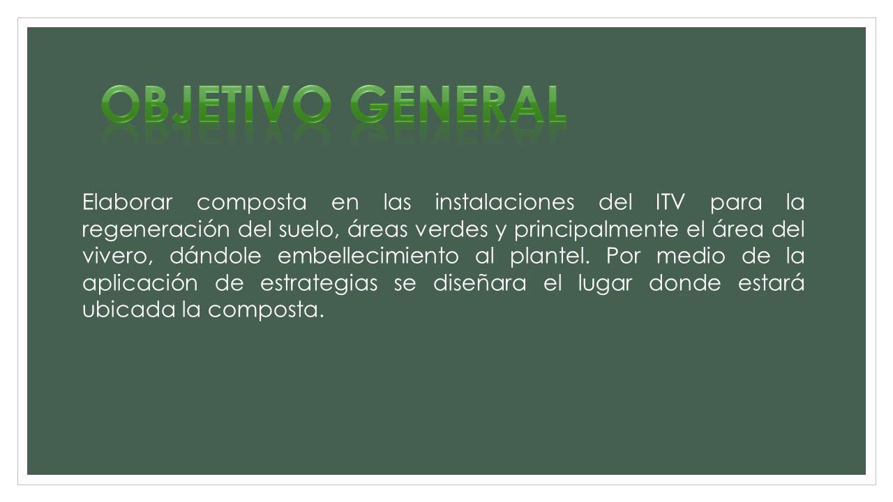 Elaboraci n de composta en el itv instituto tecnol gico de for Objetivo general de un vivero