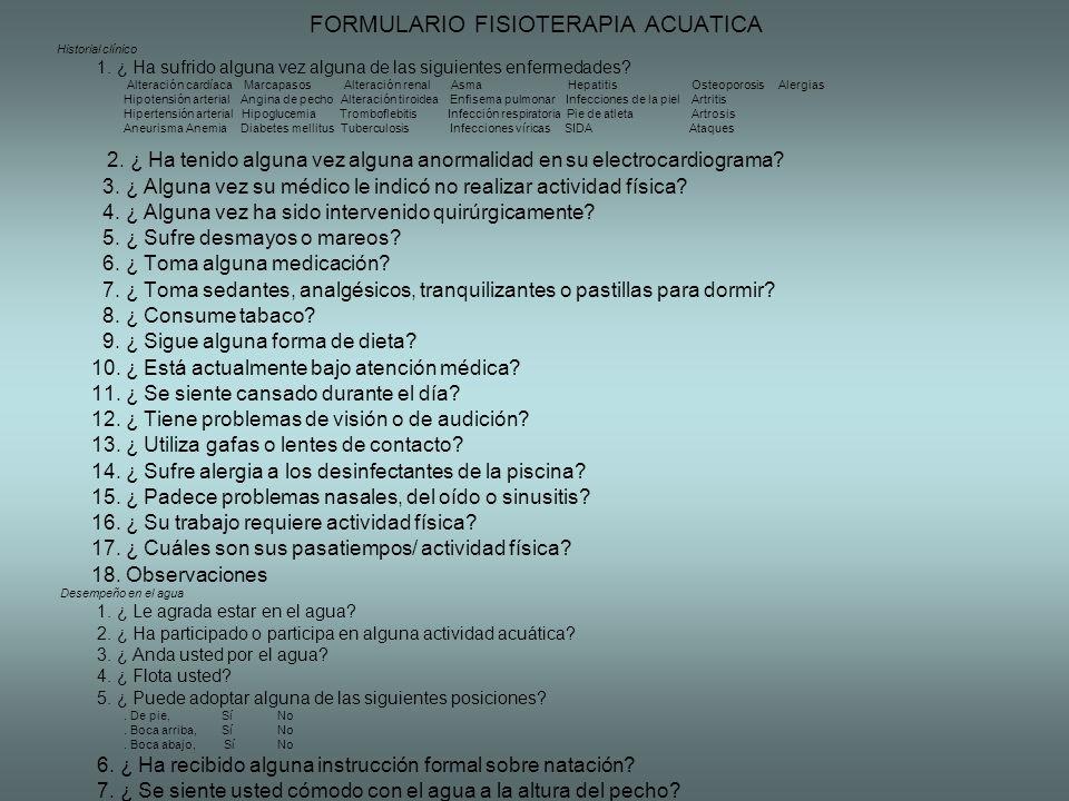 FORMULARIO FISIOTERAPIA ACUATICA