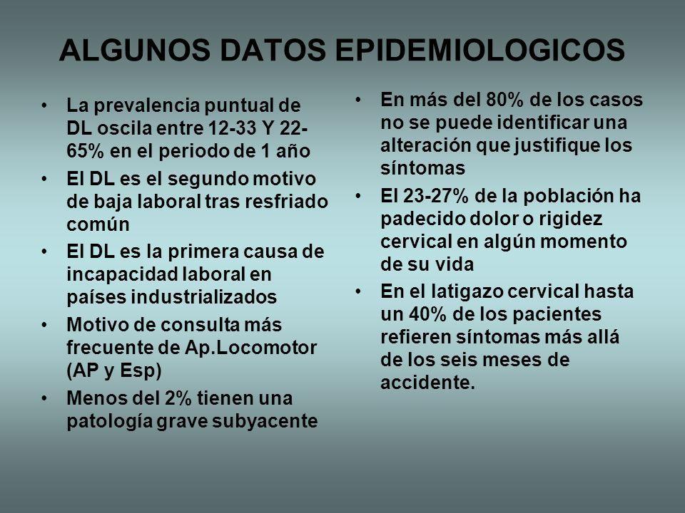 ALGUNOS DATOS EPIDEMIOLOGICOS