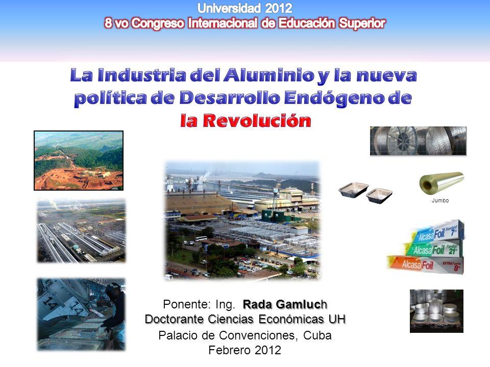 La Industria del Aluminio y la nueva política de Desarrollo Endógeno de