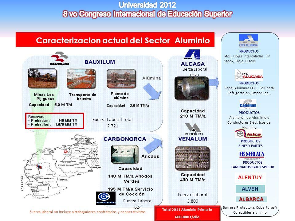 LAMINADOS BAJO ESPESOR Total 2011 Aluminio Primario