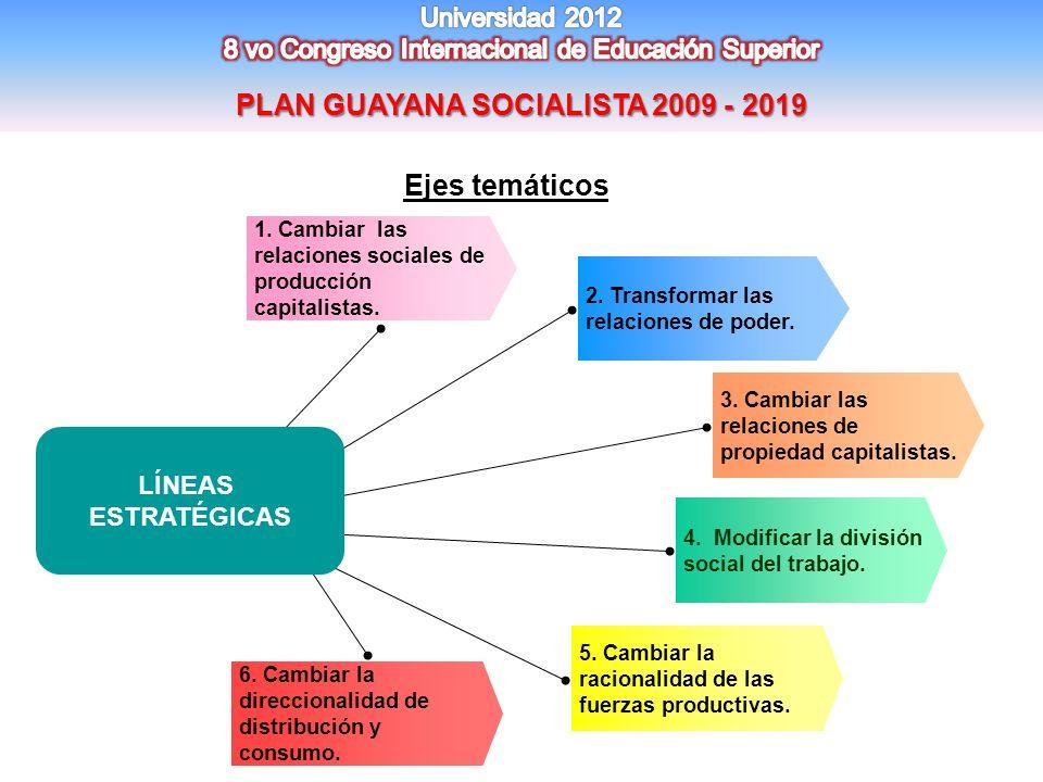 PLAN GUAYANA SOCIALISTA 2009 - 2019
