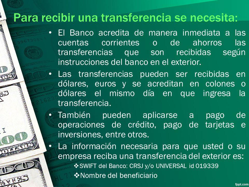 Medios de pago comercio internacional ppt video online for Banco exterior banco universal