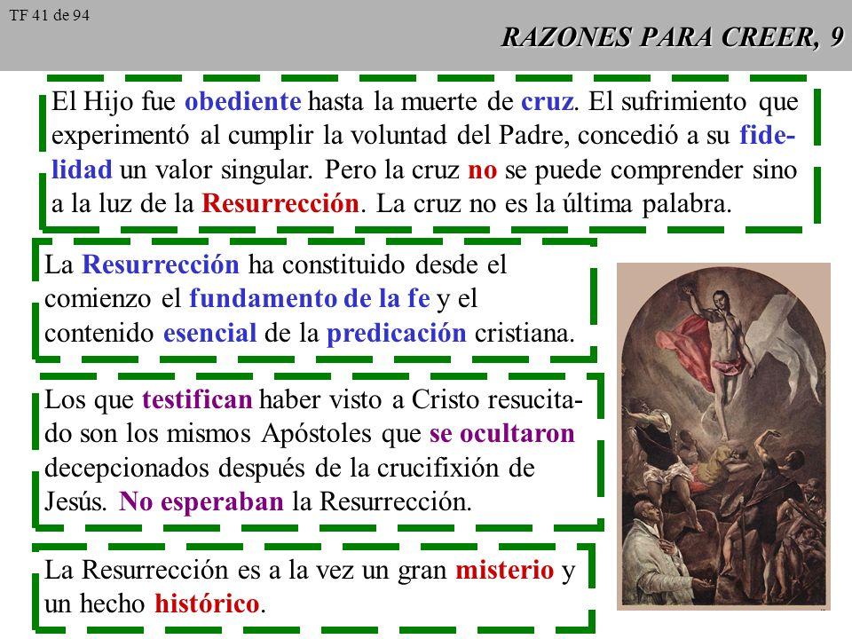El Hijo fue obediente hasta la muerte de cruz. El sufrimiento que