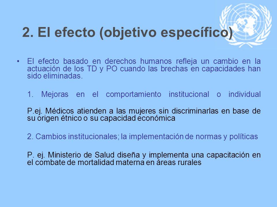 2. El efecto (objetivo específico)