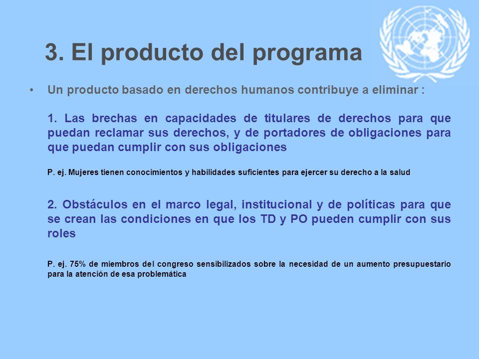 3. El producto del programa