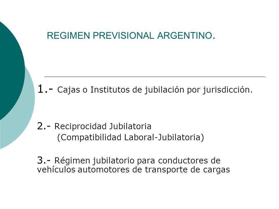 REGIMEN PREVISIONAL ARGENTINO.