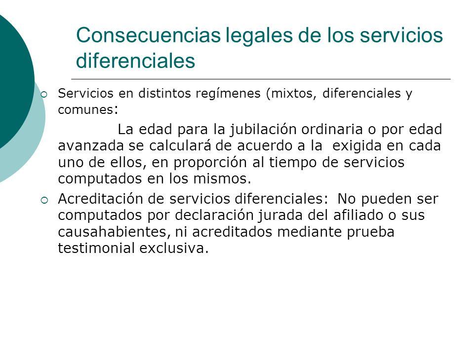 Consecuencias legales de los servicios diferenciales