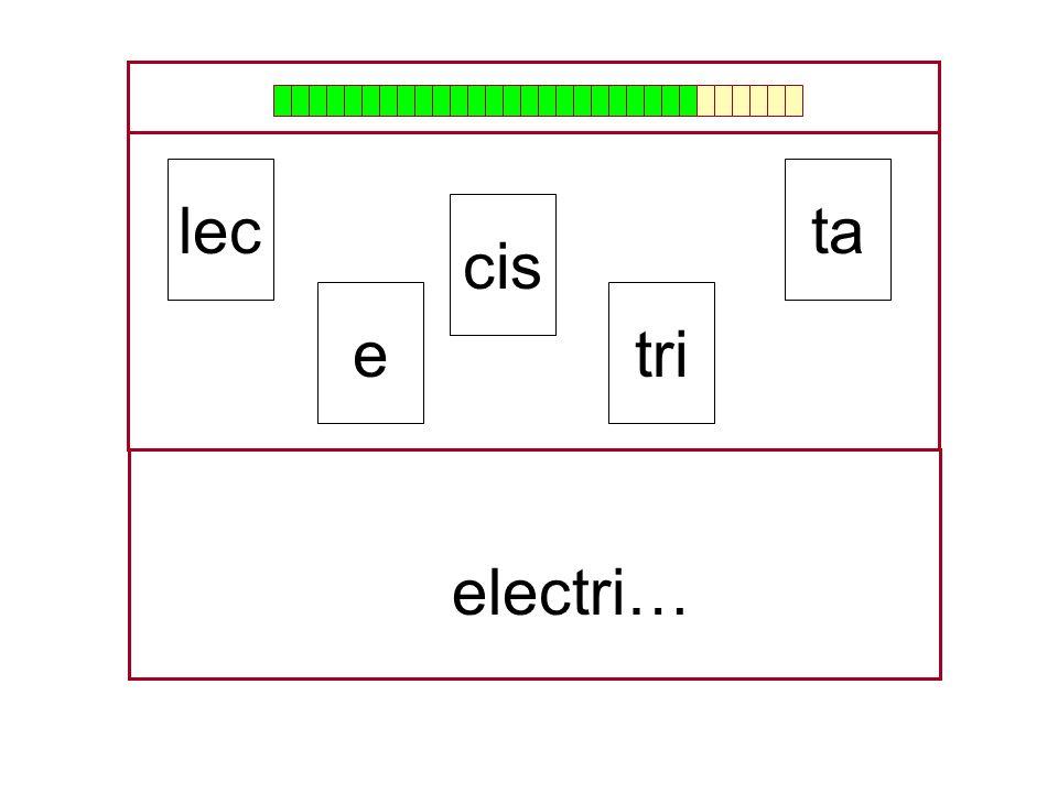 lec ta cis e tri … electri…