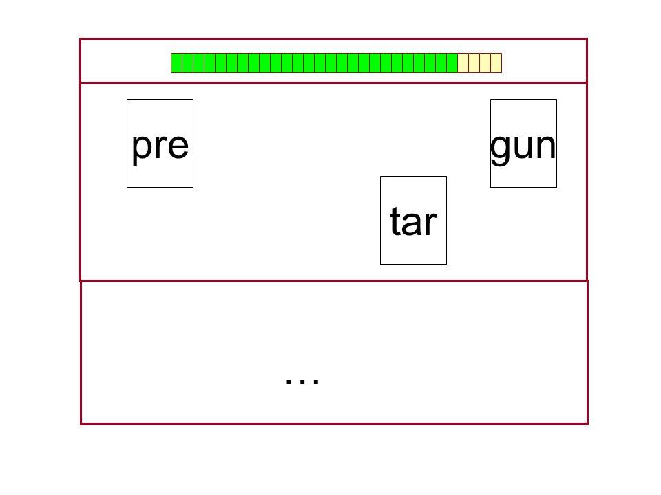 pre gun tar … …