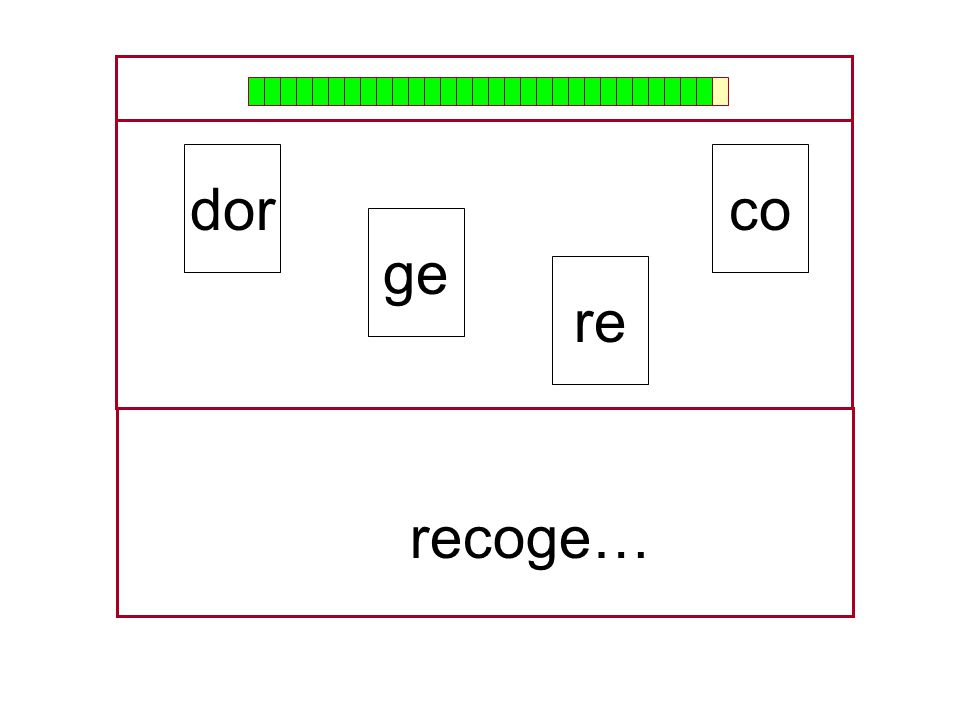 dor co ge re recoge…