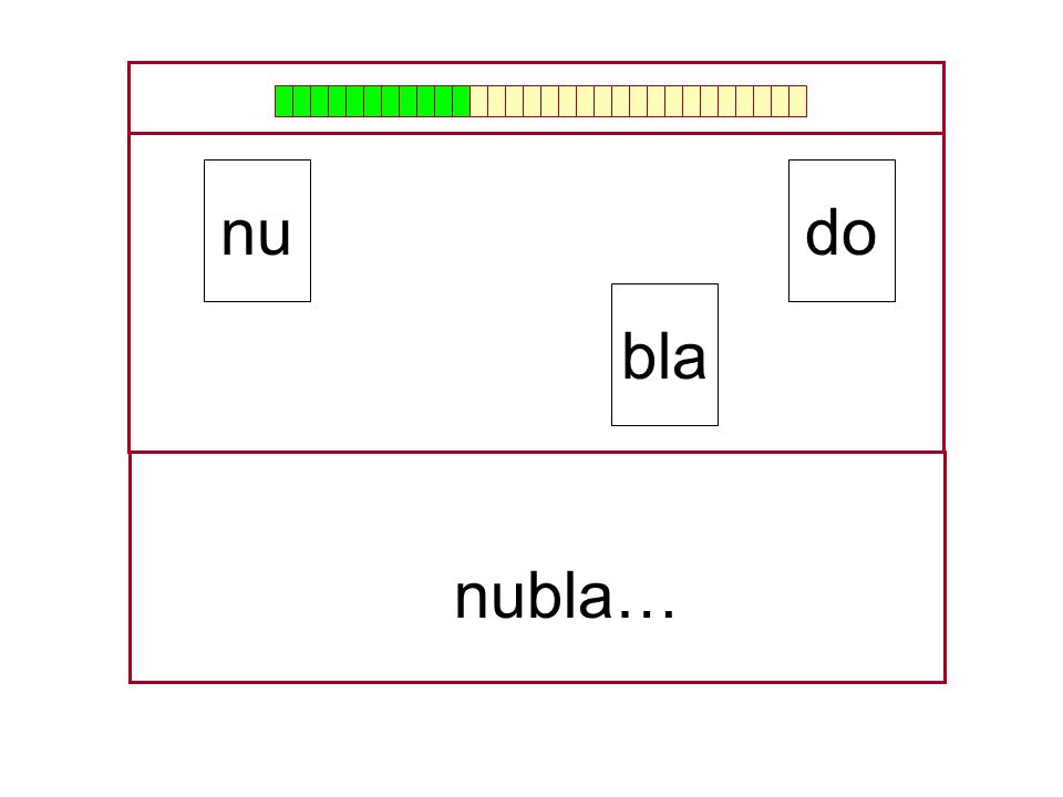 nu do bla nubla… …