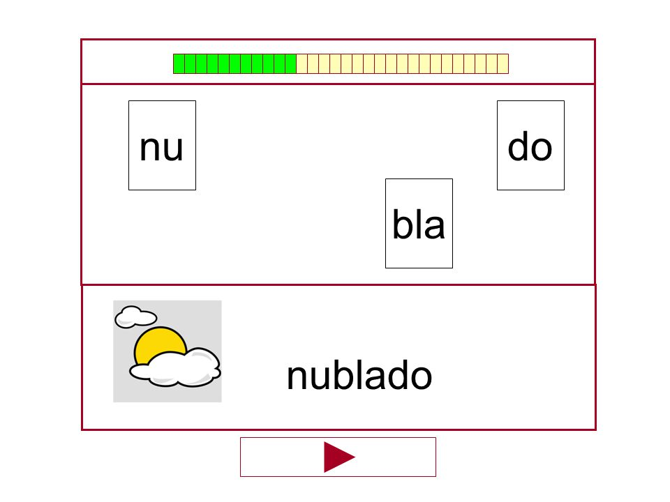 nu do bla nublado …